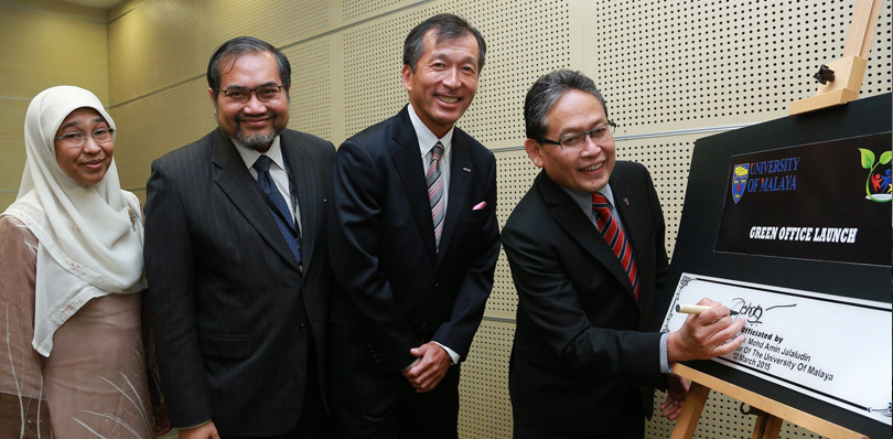 The Launch Of Malaysian University's First Ever Refurbished Green Office
