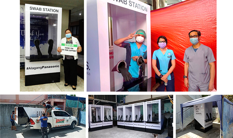 PANASONIC PHILIPPINES DONATES SWAB BOOTHS IN LUZON HOSPITALS