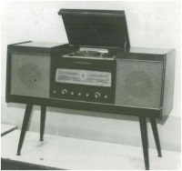 Photo of The first record player HE-44