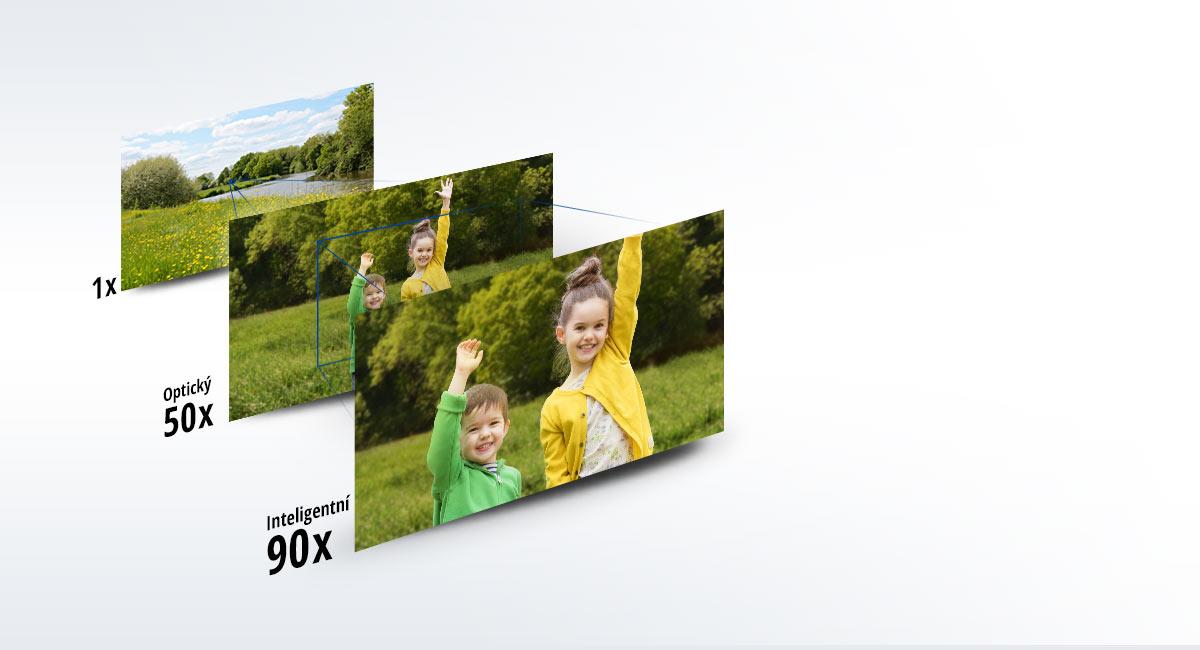 90× Inteligentní zoom / 50× Optický zoom
