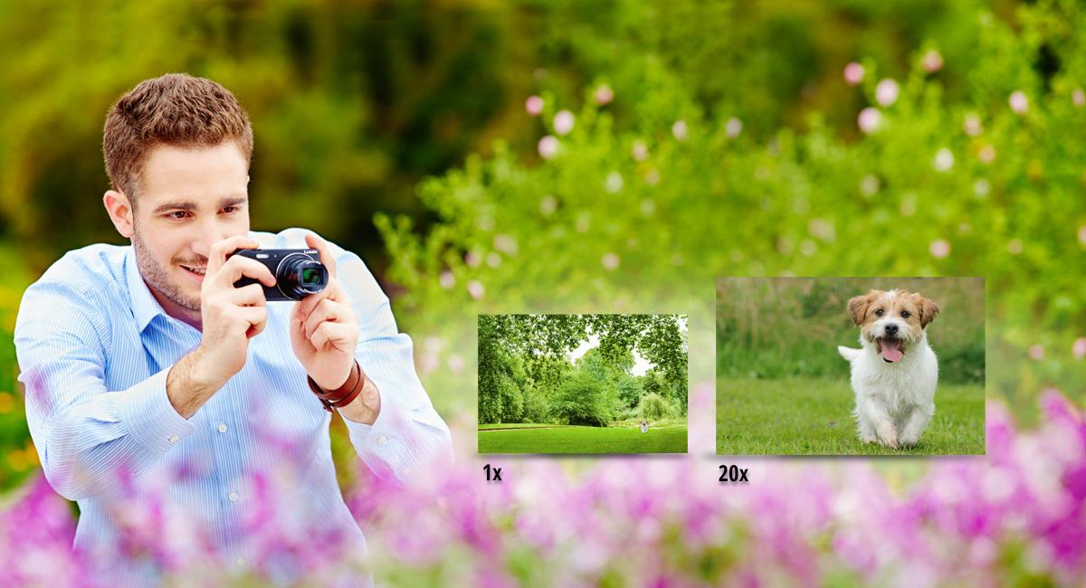 20× optický zoom vtěle, které se vejde do kapsy