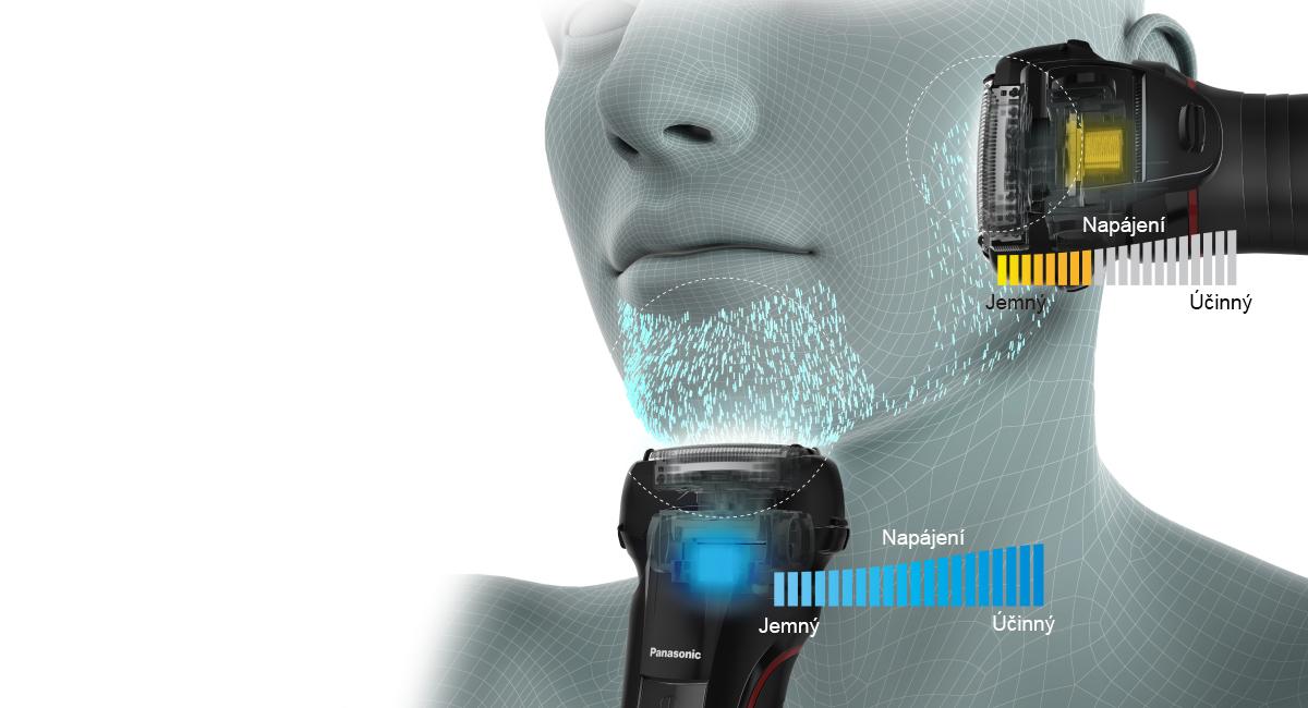 Snímač holení snižuje podráždění pokožky