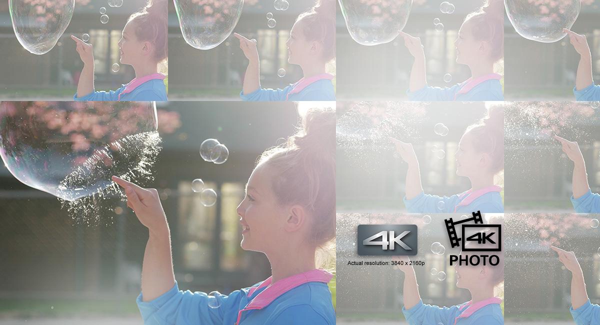 Zachytíte dokonalý okamžik – funkce 4K Video a 4K Photo