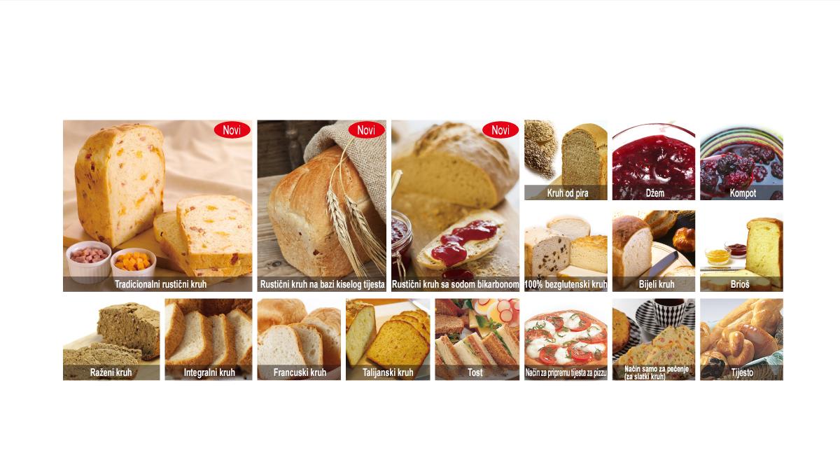 17 vrsta programa za kruh