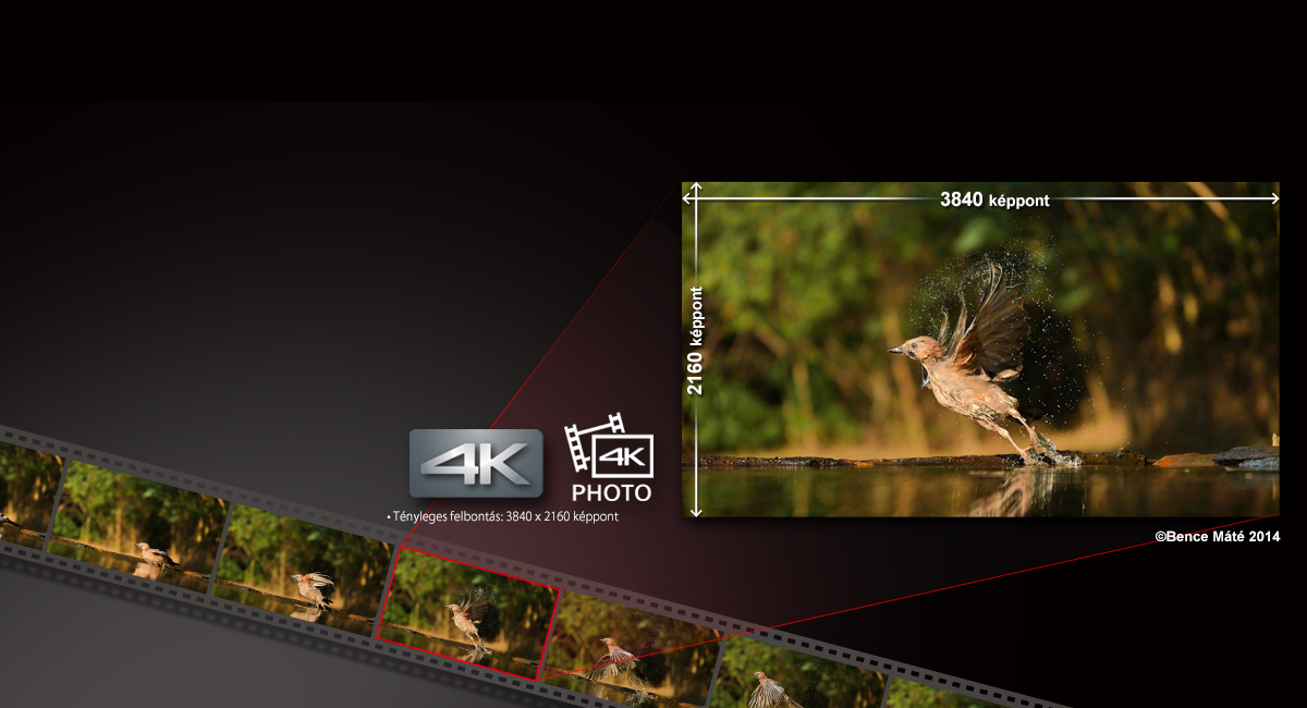 Nagy felbontású fényképek rögzítése 4K videóból