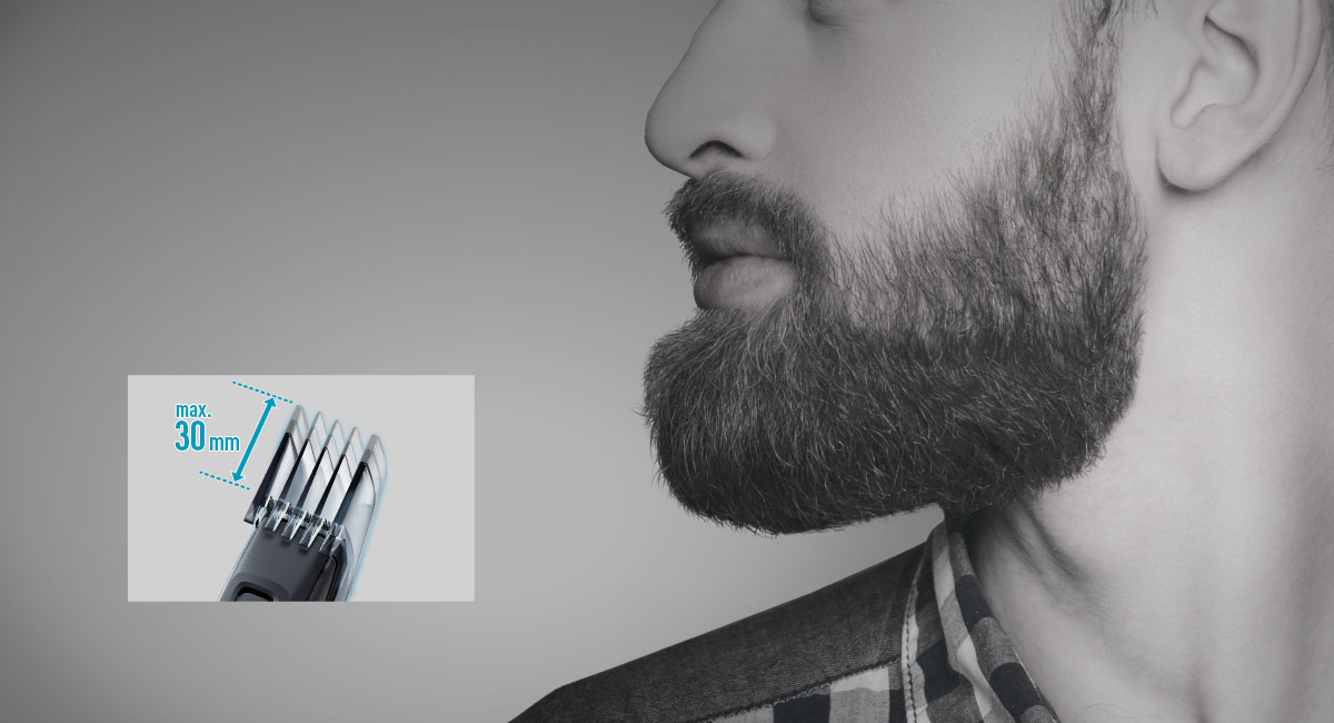 30 mm-es adapter a hosszú szakáll egyszerű alakításához