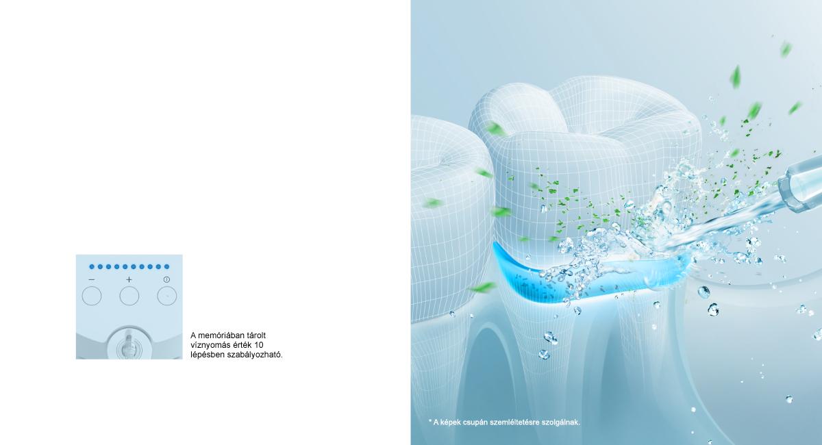 A vízsugár kitisztítja a periodontális tasakokat