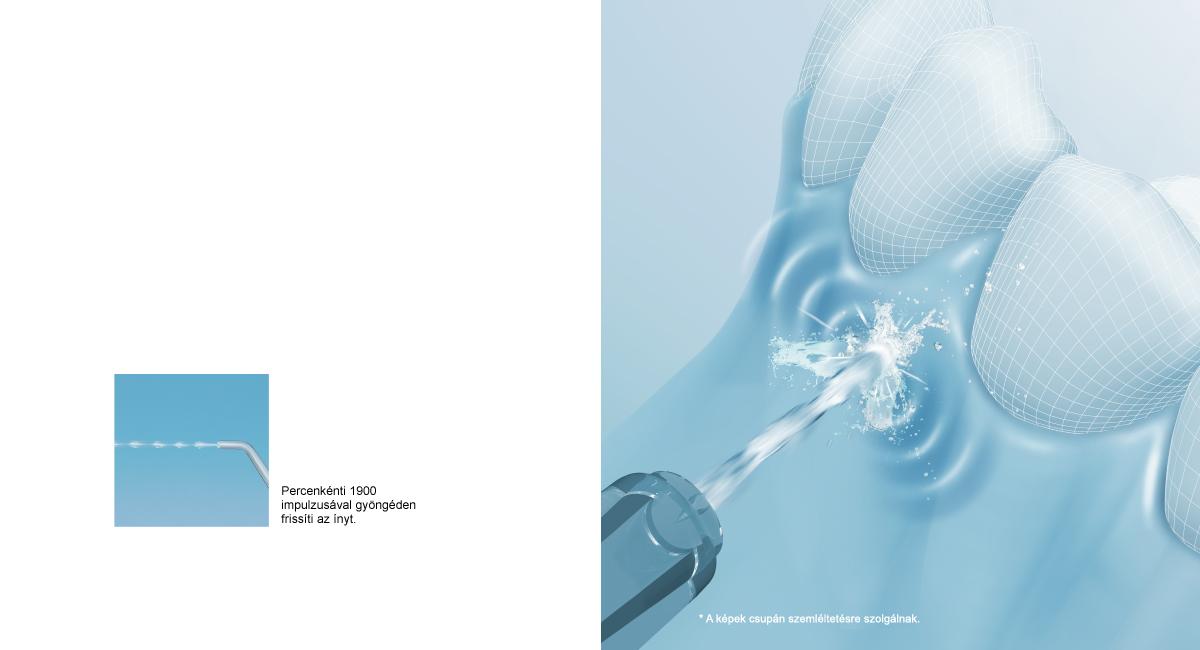 Fogínyápolás kényelmes, szakaszos stimulációval