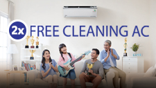 2X Free Cleaning AC