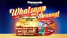 Panasonic Battery - Whatsapp dan Menang!