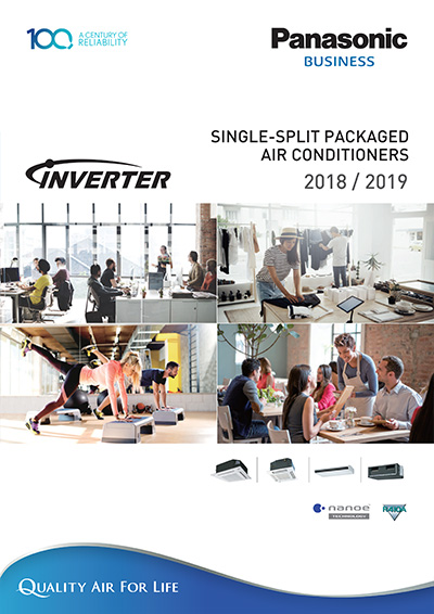 single split packaged air conditioner Inverter 2019 R410 Catalog - Panasonic Malaysia