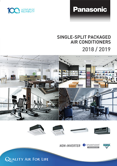 single split packaged air conditioner Non-Inverter 2019 R410 Catalog - Panasonic Malaysia
