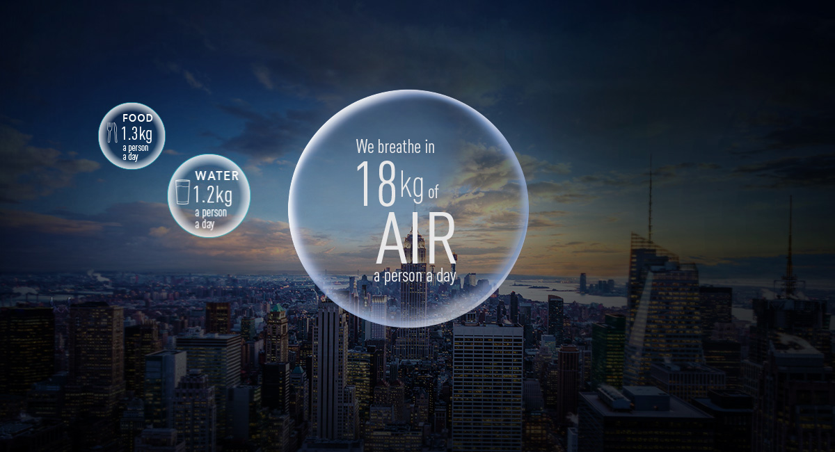 We care about the food we eat, and the water that we drink; But what about AIR?