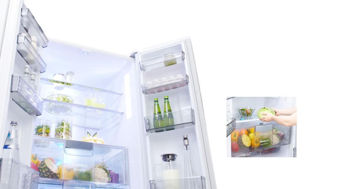 Top Fridge Design: Center Vegetable Case