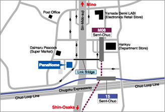 Map of Panahome office in Japan.