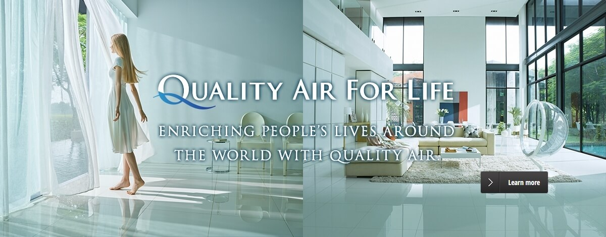image:QUALITY AIR FOR LIFE ENRICHING PEOPLE'S LIVES AROUND THE WORLD WITH QUALITY AIR.