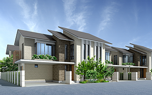 Example of semi-detached house for ASEAN.