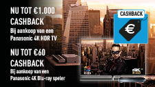 Hollywood to your home cashback actie