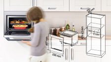 Trim Kit Installation Diagrams for Panasonic Microwave Ovens