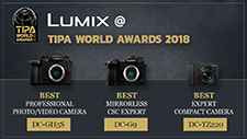 TIPA awards for LUMIX G9, GH5S & TZ220 cameras