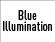Iluminación en azul
