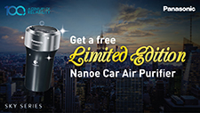 Get a free Limited Edition - Nanoe Car Air Purifier