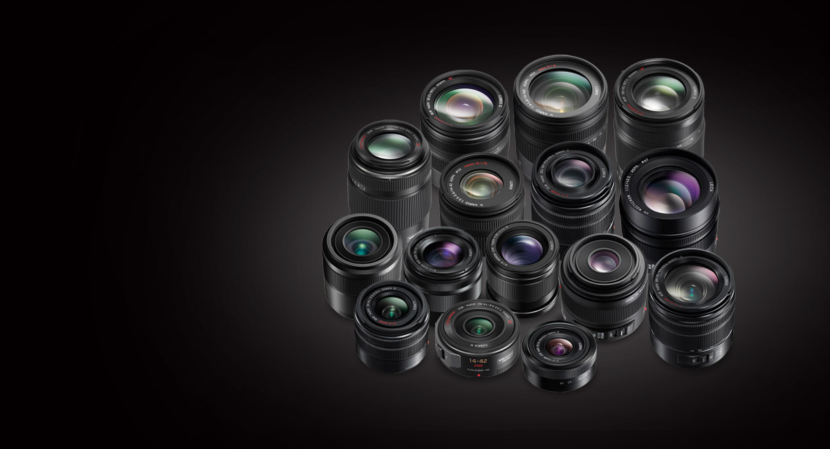 A Wide Lineup of LUMIX G Lenses