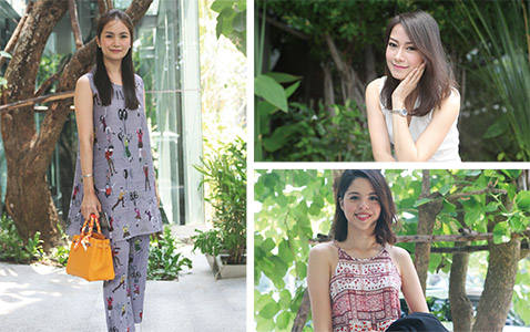 Fashionable Young Models All Over Bangkok