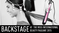Backstage at the Miss International 2015