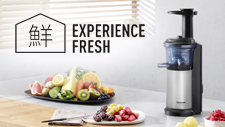 Experience Fresh with Slow Juicing