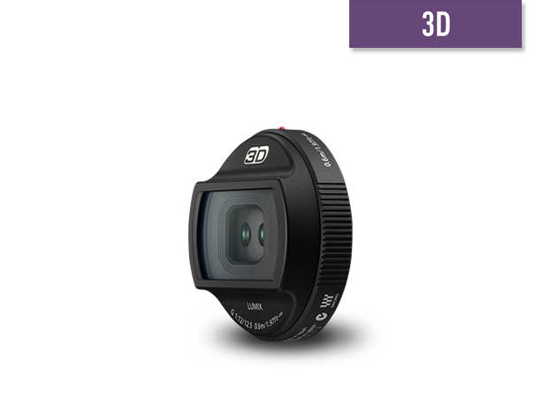 Photo of Micro Four Thirds 3D Lens 12.5mm H-FT012E