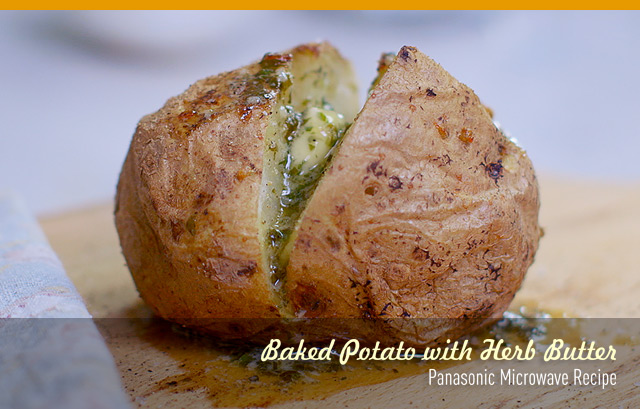 Baked-Potato-with-Herb-Butter