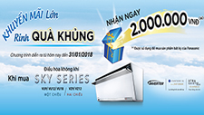 Big promotion with great gifts - Panasonic Airconditioner