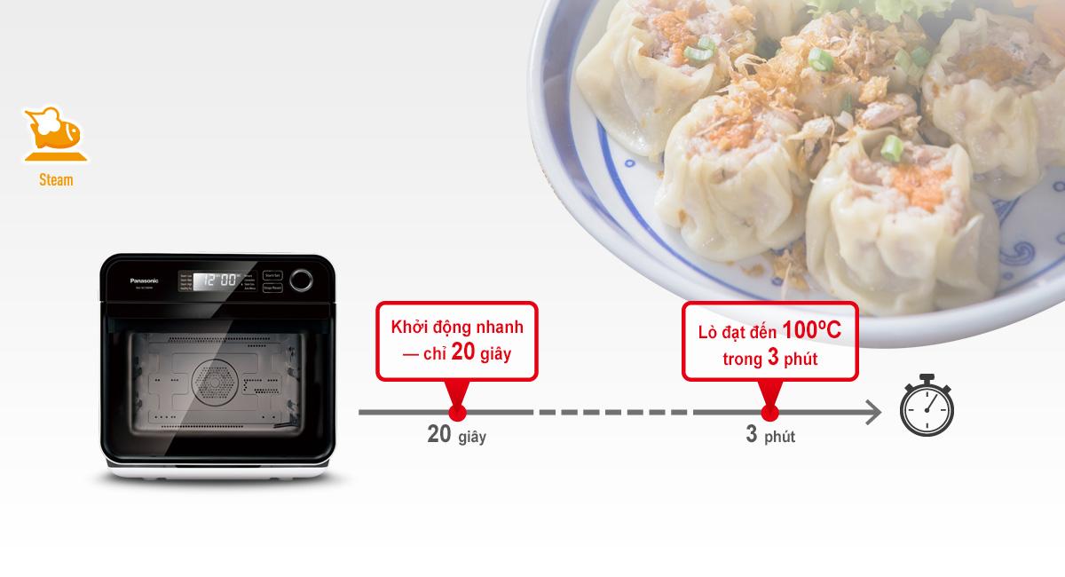 Lò Khởi động và làm nóng nhanh để giúp bạn chế biến những món ăn tuyệt hảo