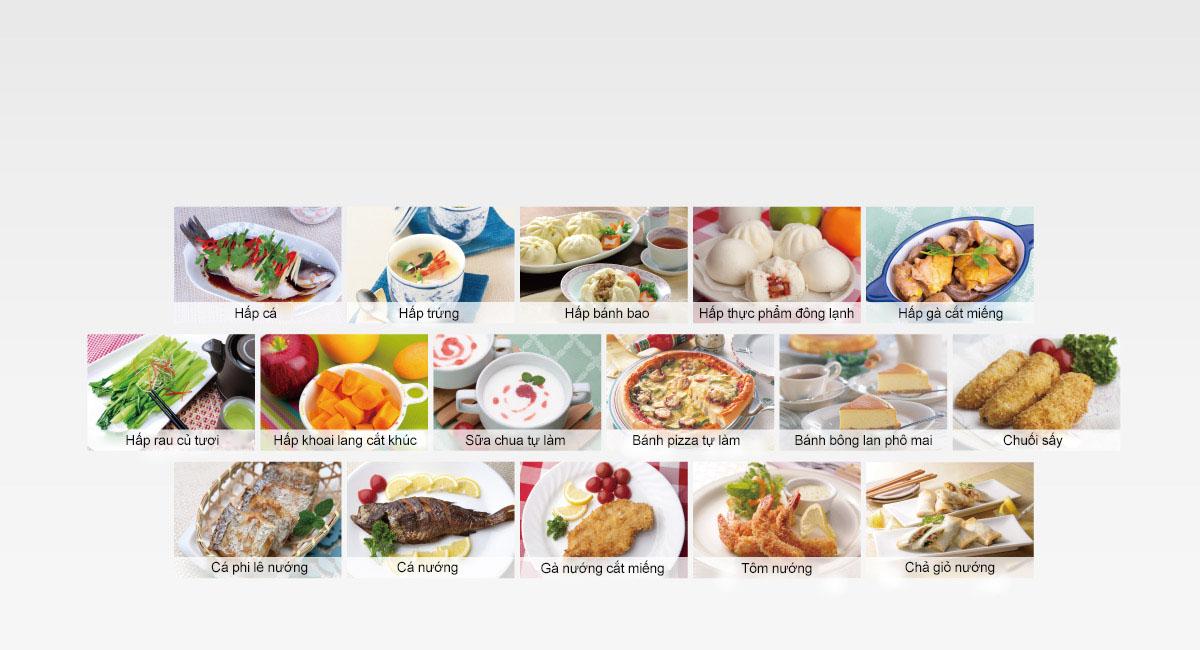 16 menu tự động