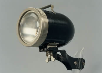 Bullet-shaped battery-powered bicycle light