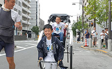 Photo: Riding on a rickshaw around Asakusa streets
