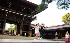 Photo: Jumping at the scale of the shrine