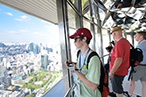 Photo: Seeing the view from the observation deck of Tokyo Tower