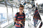 Photo: Smiling at the observation deck of Tokyo Tower