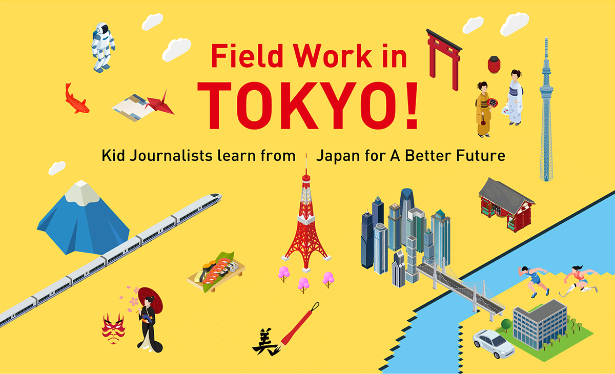 Field Work in Tokyo. Kid Journalists learn from Japan for A