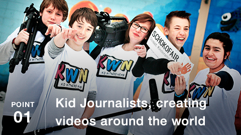 POINT01 Kid Journalists, creating videos around the world