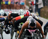 Support for Wheelchair Race