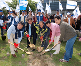 Panasonic Group takes part in joint tree-planting activity