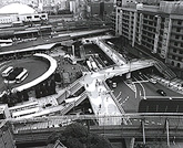 1964 Construction of Japan's Largest Pedestrian Overpass