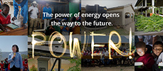 The power of energy opens the way to the future. POWER!