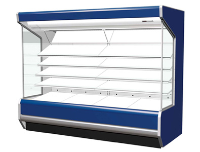 FPW-EV085, a display case compatible with a fluorocarbon-free freezer