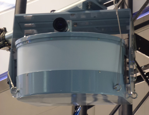 Photo: Prototype millimeter-wave radar unit (120-degree viewing angle)