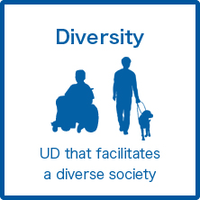 Diversity UD that facilitates a diverse society