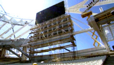Photo: ASTROVISION large display unit installed in the stands at a venue of the Olympic Games Athens 2004